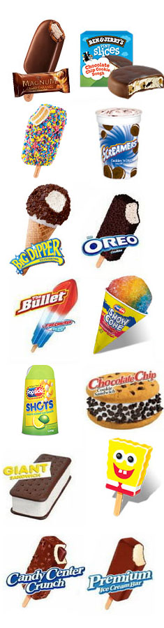 Ice cream for fun truck - Flavors